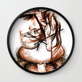 Apocalypse kiss Wall Clock