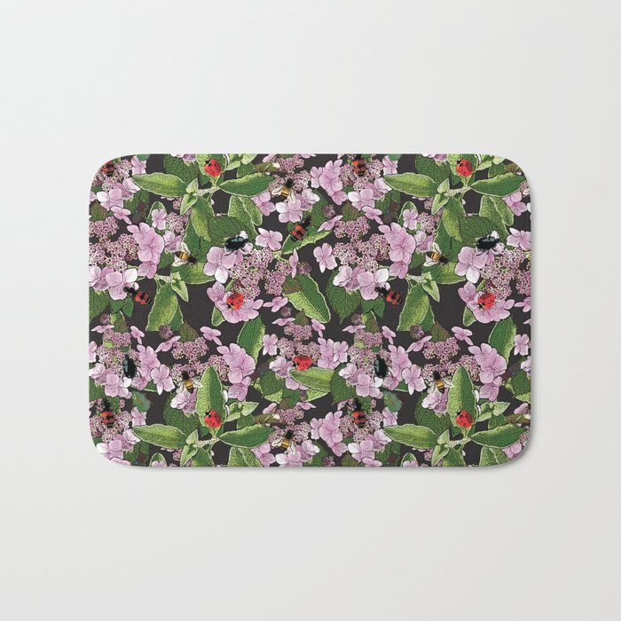 Floral insects pattern Bath Mat