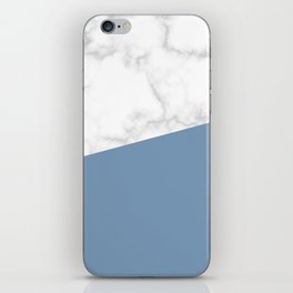 marble and ocean blue iPhone Skin