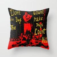 ali Throw Pillows featuring Ali by Maxim Garg