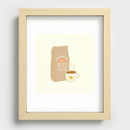 House Blend Coffee Recessed Framed Print