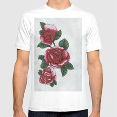 New roses Mens Fitted Tee MEDIUM White