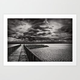 Rogers City Marina Morning Art Print