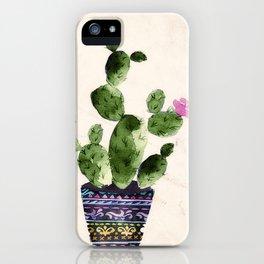Blooming Cactus iPhone Case