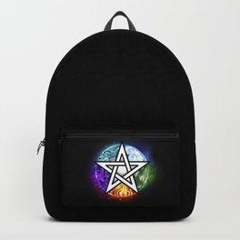 Glowing pentagram Backpack