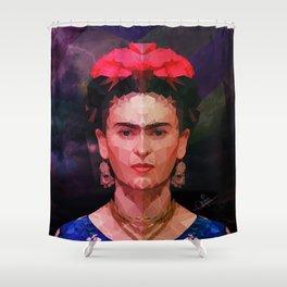 FRIDA KAHLO GEOMETRIC PORTRAIT Shower Curtain