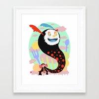 madoka magica Framed Art Prints featuring Madoka Magica - Bebe by Misha