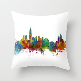 Taipei Taiwan Skyline Throw Pillow