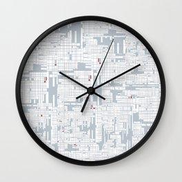 Grid in Grey Wall Clock