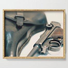 Luger P08 Parabellum handgun. Serving Tray