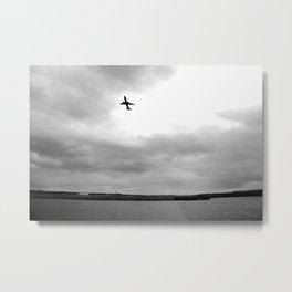 Departing Jet Metal Print