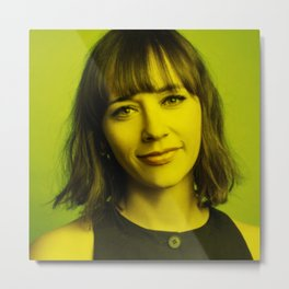 Rashida Jones - Celebrity (Florescent Color Technique) Metal Print