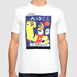 Joan Miro Help Spain, Aidez Espagne 1980 Artwork for Prints Posters Tshirts Bags Women Men and Kids T-shirt