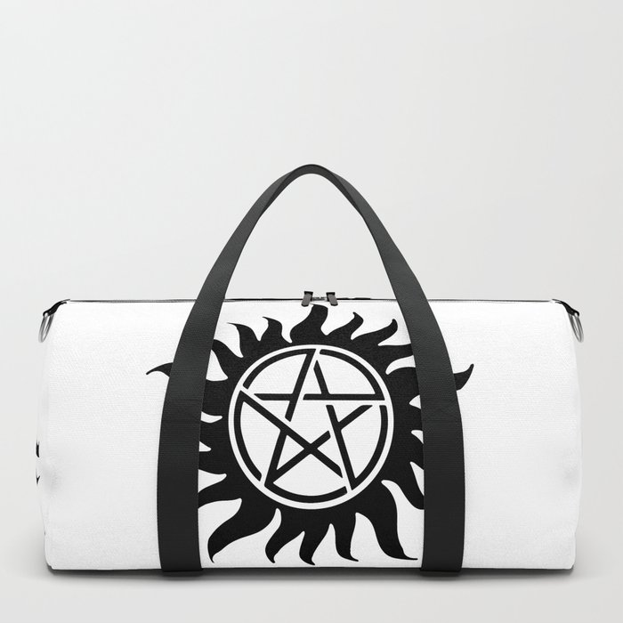 Anti Possession Sigil Black Duffle Bag