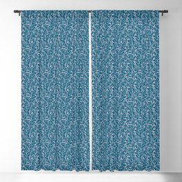 Movin' and Shakin' Teal/Pink Blackout Curtain