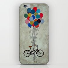 Bicycle with Balloons iPhone & iPod Skin