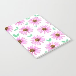 Pink Flower 21 with Leaves Notebook