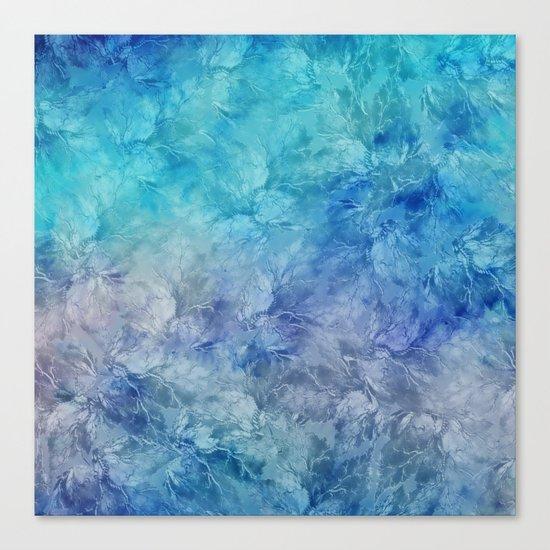 Frozen Leaves 13 Canvas Print