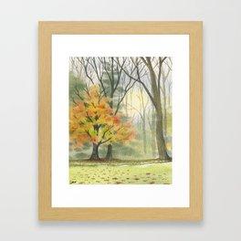 Briars Golf Course, Dusk, Oct 28th Framed Art Print