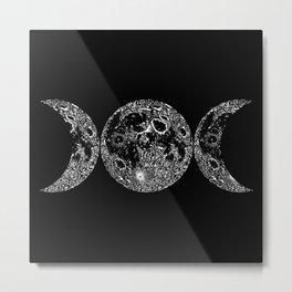 Triple Moon Metal Print
