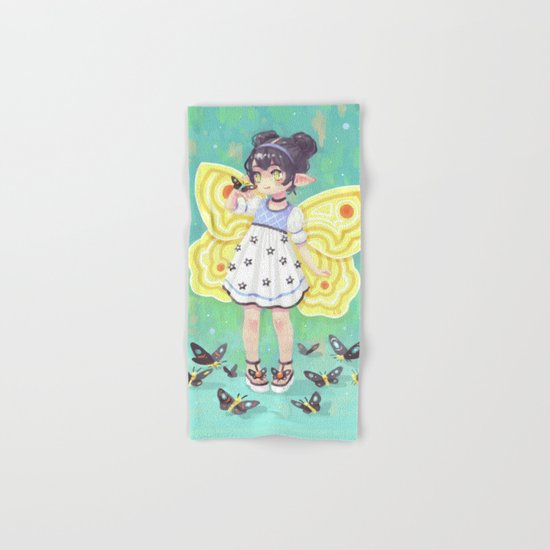 Butterfly Girl Hand & Bath Towel