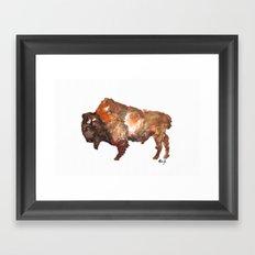 The buffalo roam Framed Art Print