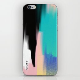 Turquoise Light and Yellow iPhone Skin
