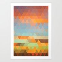 Simple Sky - Sunset Art Print