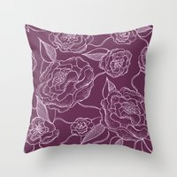 floral pattern Throw Pillows featuring Floral Pattern by Vickn