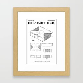 Xbox Poster • Microsoft Gamer Prints • Xbox Patent Printable • Gift For Gamer • Gamer Present Framed Art Print