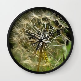 Tragopogon Wildflower Salsify Wall Clock