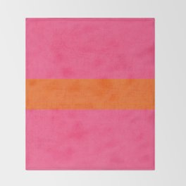 hot pink and orange classic  Throw Blanket