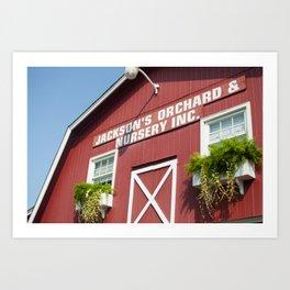Orchard Barn Art Print