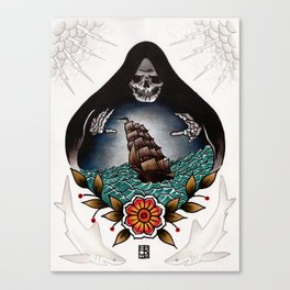 Tonight We Make Our Bed At The Bottom Of The Sea Canvas Print