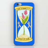 the cure iPhone & iPod Skins featuring Parkinson's Find a Cure by J&C Creations