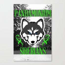 Pandamonium Siberians  Canvas Print