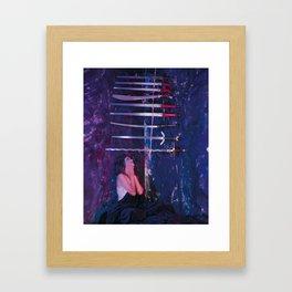 9 of Swords Framed Art Print