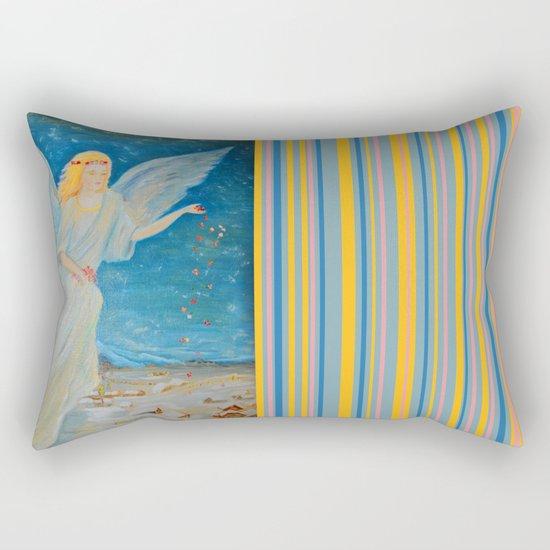 Bless me | Guardian Angels are Here | Angel of Abundance | Love Rectangular Pillow