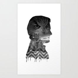 Agent Cooper Collage Art Art Print