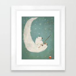 catch a falling star Framed Art Print