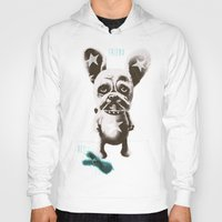 foo fighters Hoodies featuring FOO FOO FRENCHIE with Pet Bunny by Haus Of Lelu
