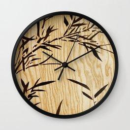 Japanese bamboo buddha wood art Wall Clock