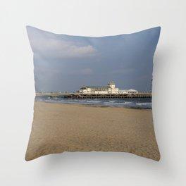 Bournemouth Pier 1 Throw Pillow