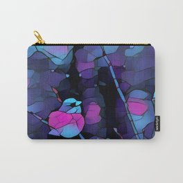 Junco Neon Pink Purple by CheyAnne Sexton Carry-All Pouch