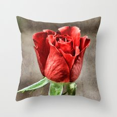 Red Rose Red Throw Pillow