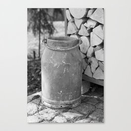 Old milk jug Canvas Print