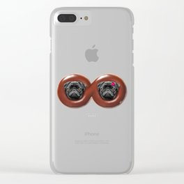 Infinity Pugs Clear iPhone Case