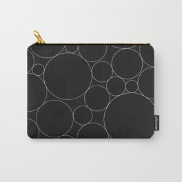 Circular Collage - Black & White I Carry-All Pouch