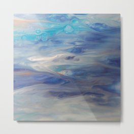 Ethereal Skies - Abstract Acrylic Art by Fluid Nature Metal Print