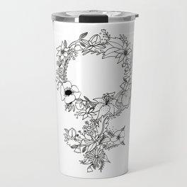 Feminist Flower  2.0 Travel Mug